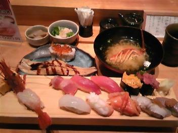 銀座でお寿司を食べたよ!