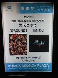「高木こずえ写真展」を見に行ったよ。